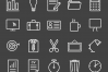 50 Office Line Inverted Icons example image 2