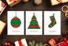Norwegian Christmas Greeting Cards Set example image 1