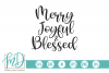 Christmas - Merry Joyful Blessed SVG example image 2