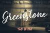 Greenstone Script - Font example image 1