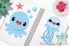 Octopus & Jellyfish 2 Clipart, Instant Download Vector Art example image 3
