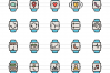 50 Smart Watch Linear Multicolor Icons example image 2