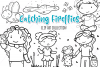 Catching Fire Flies Summer Digital Stamps example image 1