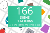166 Sign Flat Icons example image 1