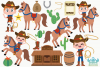 Wild West Cowboys Clipart, Instant Download Vector Art example image 2