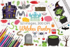 Witches Pantry Clipart, Instant Download Vector Art example image 1