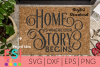 Family | Home is Where our Story Begins | SVG, DXF, EPS, PNG example image 1