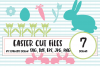 Easter Bunny SVG and Cut File Set example image 1