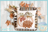 Pumpkin with Leaves and Mums SVG example image 2