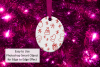 Oval Christmas Ornament Mockup, Sublimation Mock-Up, PSD example image 5
