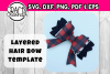Layered Hair Bow Template example image 1