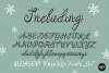 AFTERGLOW a Christmas Snow Holiday Font example image 7