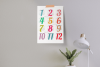 Wall Calendar 2020 Letter & Poster Size Printable PDF PNG example image 4