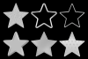 Embossed Silver Stars example image 4