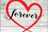 Valentine svg - Forever svg - Hearts svg - Love heart arrow example image 1