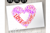 Love Heart2 Word Art example image 1