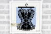 Corset paper cut design SVG / DXF / EPS / PNG files example image 2