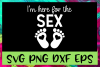 Gender Reveal Here For The Sex SVG PNG DXF & EPS Design File example image 1