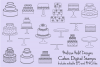 Cake Digital Stamps Clipart example image 1