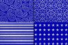 Royal Blue & Silver Glitter Digital Paper example image 3
