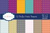 PolkaDots digital pattern / PolkaDots paper / digital papers / PolkaDots digital paper / polkadots scrapbook paper/ set 12 x 12 example image 1