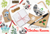 Christmas Raccoons Clipart, Instant Download Vector Art example image 4