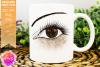 Brown Awareness Ribbon Eye - Printable Design example image 1