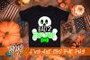Bad 2 the Bone Halloween Boy Skeleton SVG example image 1