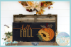 Hello Fall Quote With Pumpkin and Sunflower SVG example image 2