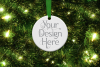 Round Christmas Ornament Mockup, Bauble Mock- Up, JPG example image 3