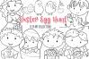 Cute Easter Egg Hunt Digital Stamps example image 1