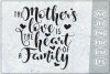 The Mother Love Is The Heart Of A Family SVG Cutting File example image 1