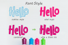 Hello freeday 2 Style font - free Easter Splash example image 2