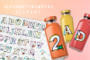 Hand Sketched Alphabet and Numbers 0 to 9 Clipart PNG Files example image 1