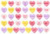 Conversation Candy Heart Clipart example image 1