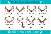 Reindeer Face Svg, Reindeer Svg, Christmas Svg, Deer Svg example image 2