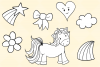 Cute Unicorns and Rainbows Digital Stamps example image 6