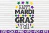 Happy Mardi Gras Y'all   Mardi Gras saying   SVG   cut file example image 1