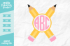 Monogram Pencil SVG DXF EPS PNG example image 1