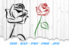 Tribal Rose Flower SVG DXF Cut Files example image 1