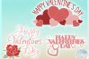 Happy Valentines Day Hearts And Roses Mini Bundle SVG example image 3