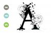 Split Letters A-Z SVG, Alphabet Letters A-Z example image 1