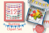 Bunting Flags Clipart Set PNG Files Download example image 2