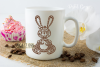 Rabbit paper cut design. SVG / DXF / EPS / PNG files example image 7