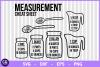 Measurement cheat sheet svg, kitchen svg, measuring svg example image 1
