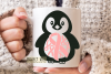 Breast cancer survivor, Penguin SVG / DXF / EPS / PNG files example image 3