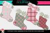Christmas Pink Plaid Stockings example image 1