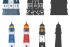Lighthouse Icons and Patterns example image 5