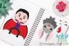 Vampire Boys Clipart, Instant Download Vector Art example image 3