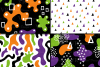 Halloween abstract seamless digital papers / patterns example image 4